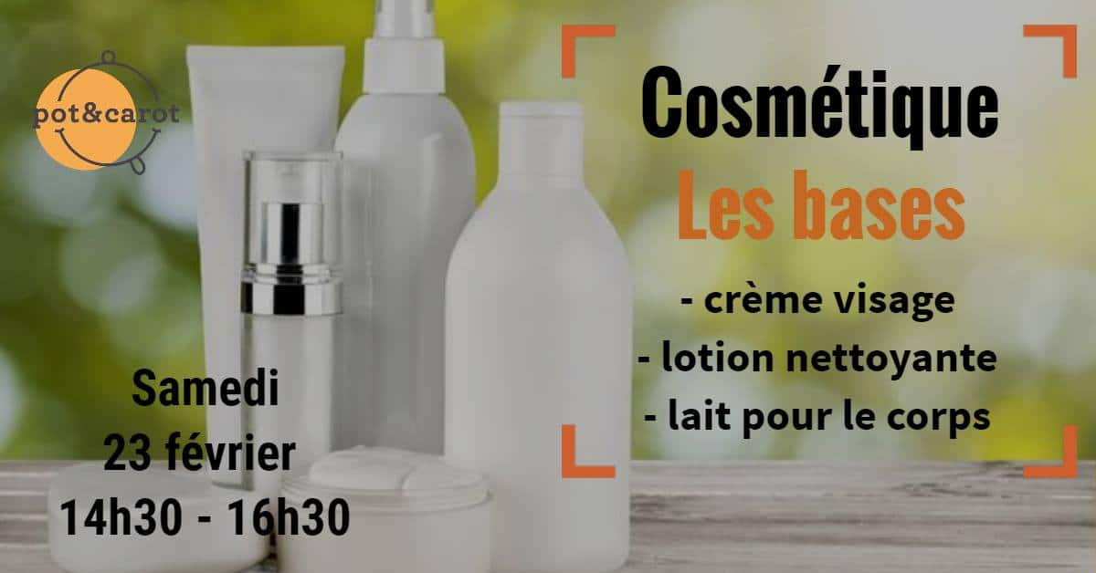 atelier cosmétique les bases